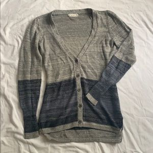 If it were me brand grey and blue ombré cardigan